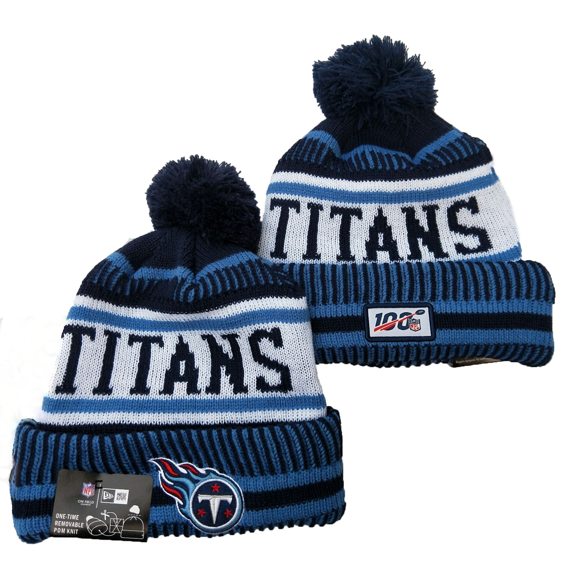 NFL Tennessee Titans New Era 2019 100th Season Knit Hats 012