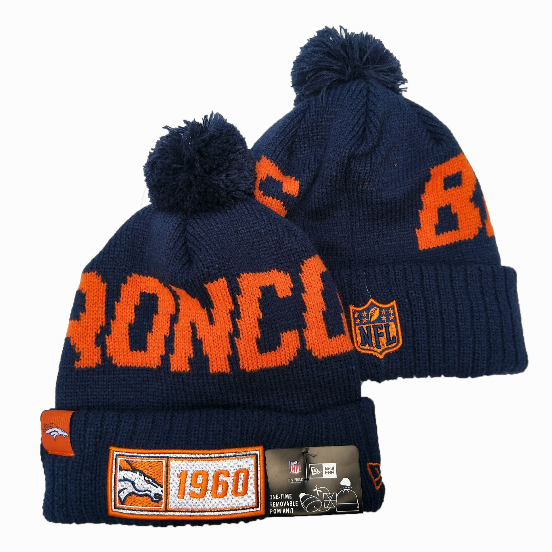 NFL Denver Broncos New Era 2019 Sideline Road Reverse Sport Knit Hats 013