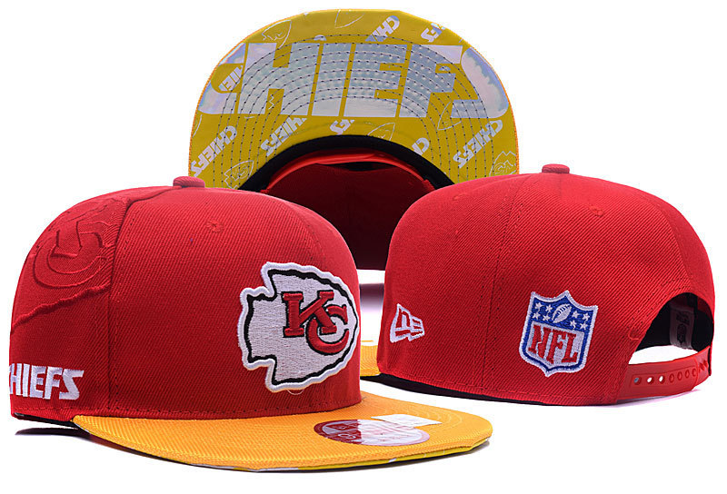 NFL Kansas City Chiefs Stitched Snapback Hats 016