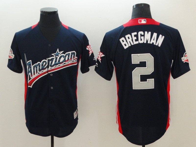 American League #2 Alex Bregman Navy 2018 MLB All-Star Game Home Run Derby Jersey