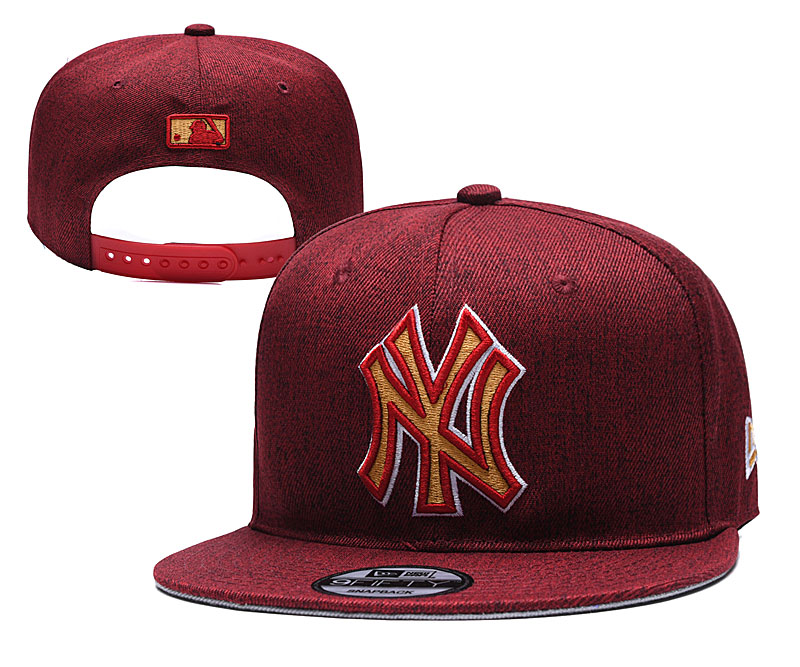 MLB New York Yankees Stitched Snapback Hats 061