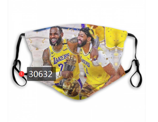 Los Angeles Lakers Face Mask 30632 Filter Pm2.5 (Pls check description for details)