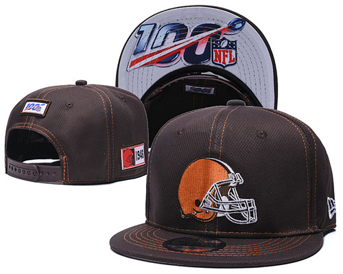 NFL Cleveland Browns 2019 100th Season Stitched Snapback Hats 008