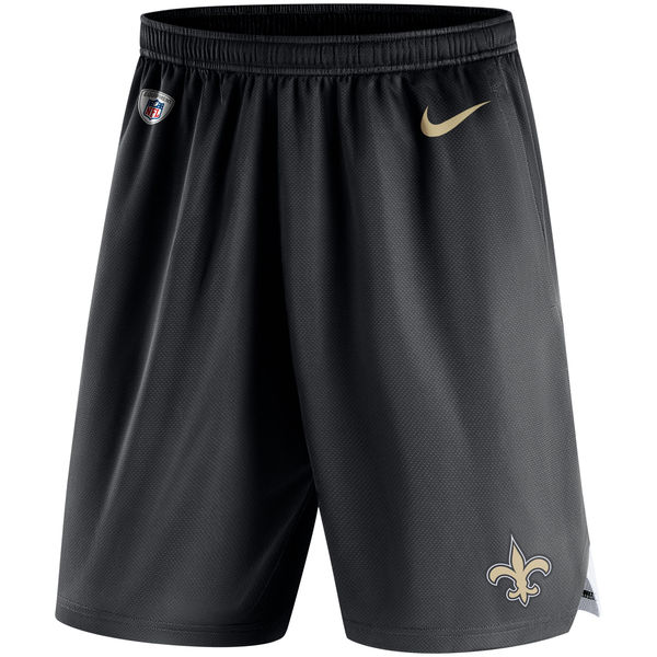 Men's New Orleans Saints Nike Black Knit Performance Shorts