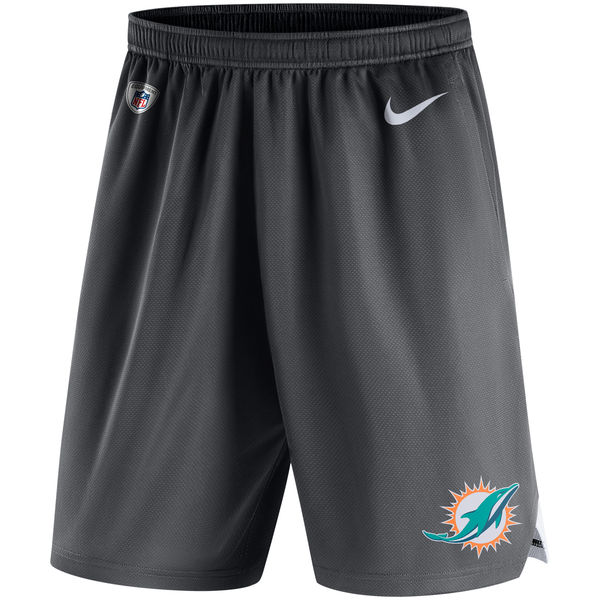 Men's Miami Dolphins Nike Charcoal Knit Performance Shorts