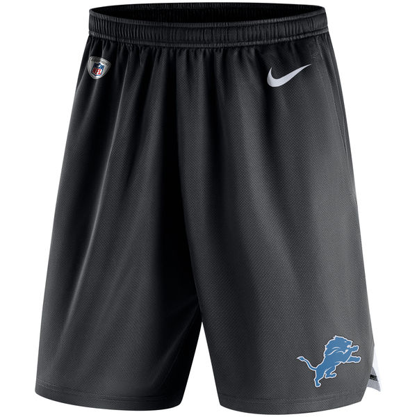 Men's Detroit Lions Nike Black Knit Performance Shorts