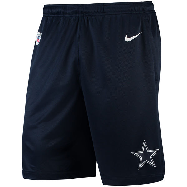 Men's Dallas Cowboys Nike Navy Knit Performance Shorts