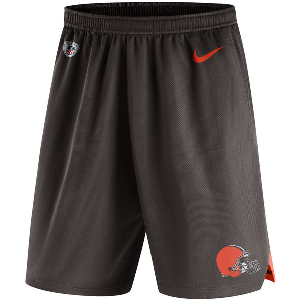 Men's Cleveland Browns Nike Brown Knit Performance Shorts