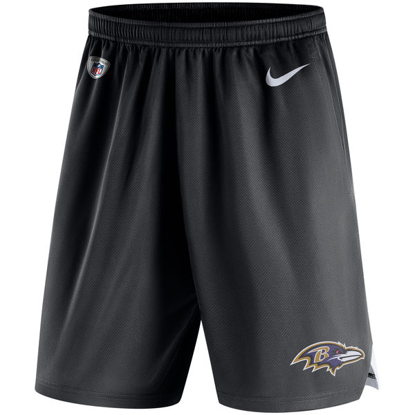 Men's Baltimore Ravens Nike Black Knit Performance Shorts
