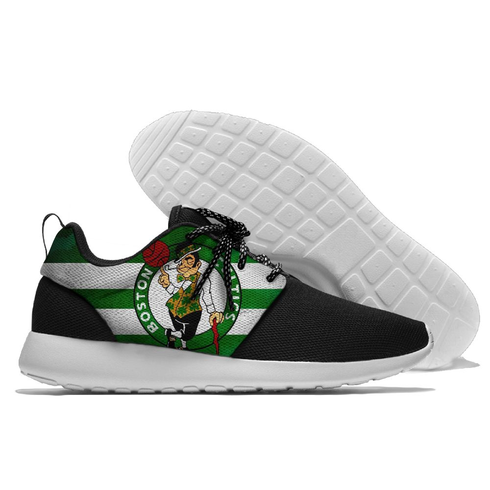 Women's NBA Boston Celtics Roshe Style Lightweight Running Shoes 003