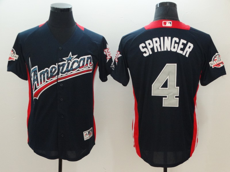 American League #4 George Springer Navy 2018 MLB All-Star Game Home Run Derby Jersey
