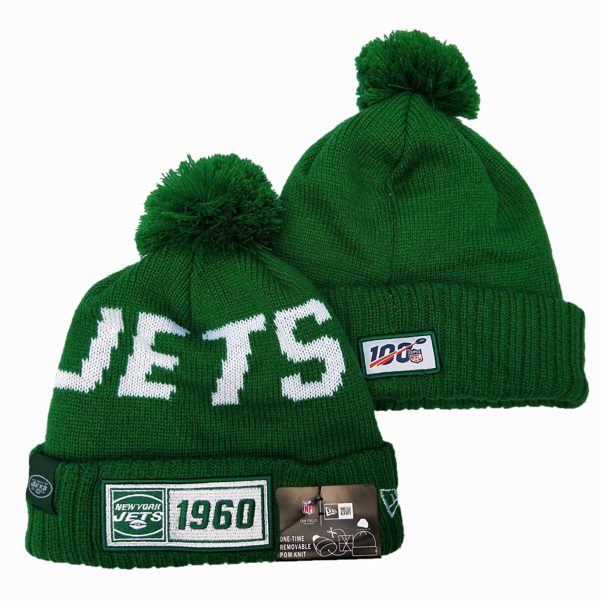 NFL New York Jets New Era 2019 Sideline Road Reverse Sport Knit Hats 016
