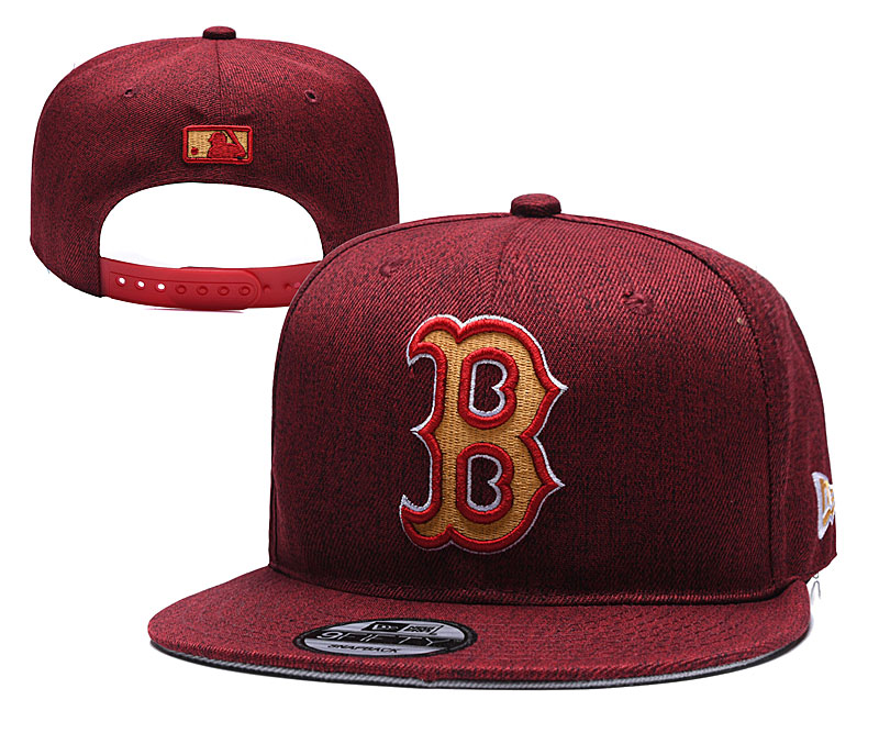 MLB Boston Red Sox Stitched Snapback Hats 012