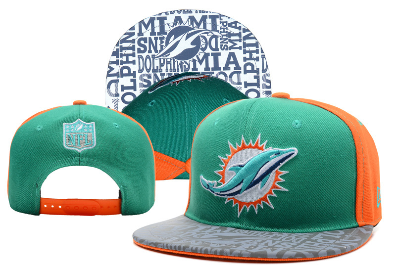NFL Miami Dolphins Stitched Snapback Hats 010
