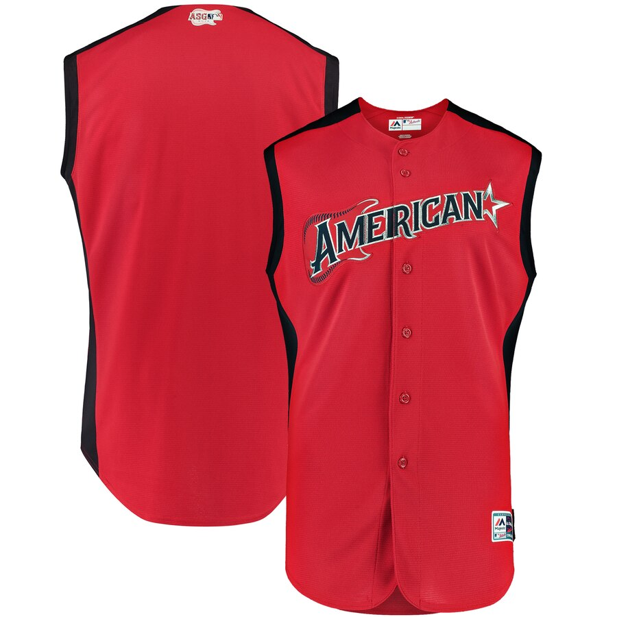 American League Red 2019 MLB All-Star Game Workout Stitched Jersey