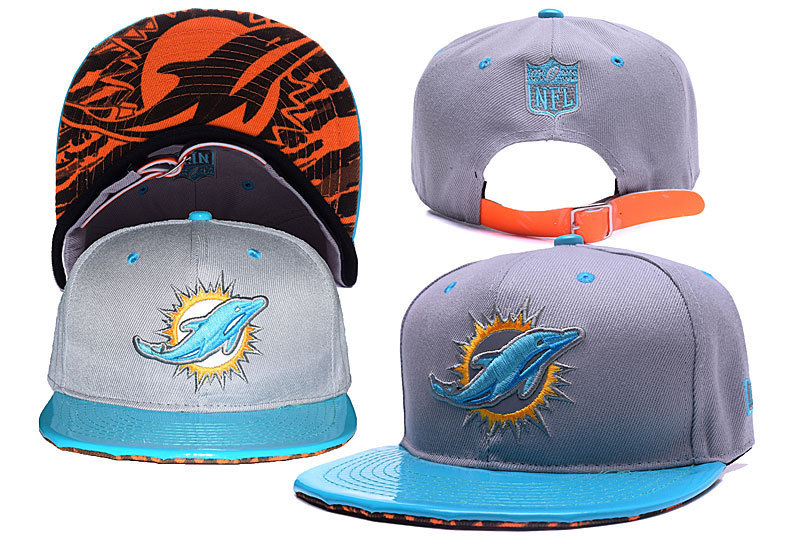 NFL Miami Dolphins Stitched Snapback Hats 007