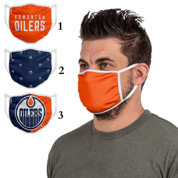 Edmonton Oilers Sports Face Mask 001 Filter Pm2.5 (Pls Check Description For Details)