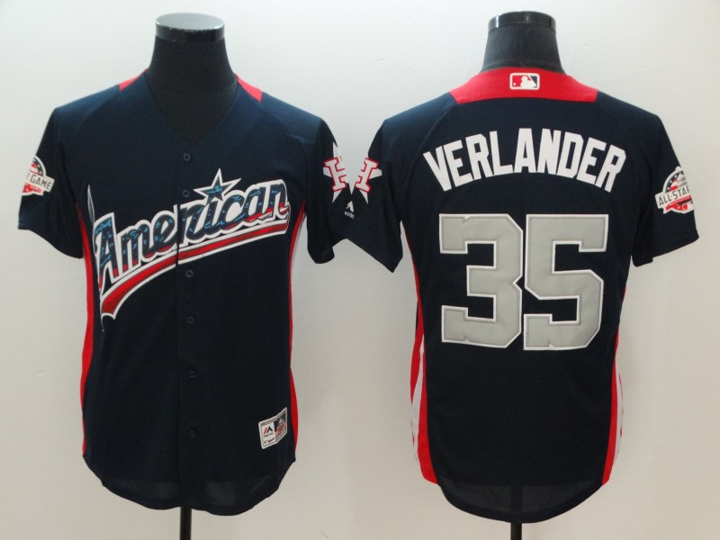American League #35 Justin Verlander Navy 2018 MLB All-Star Game Home Run Derby Jersey