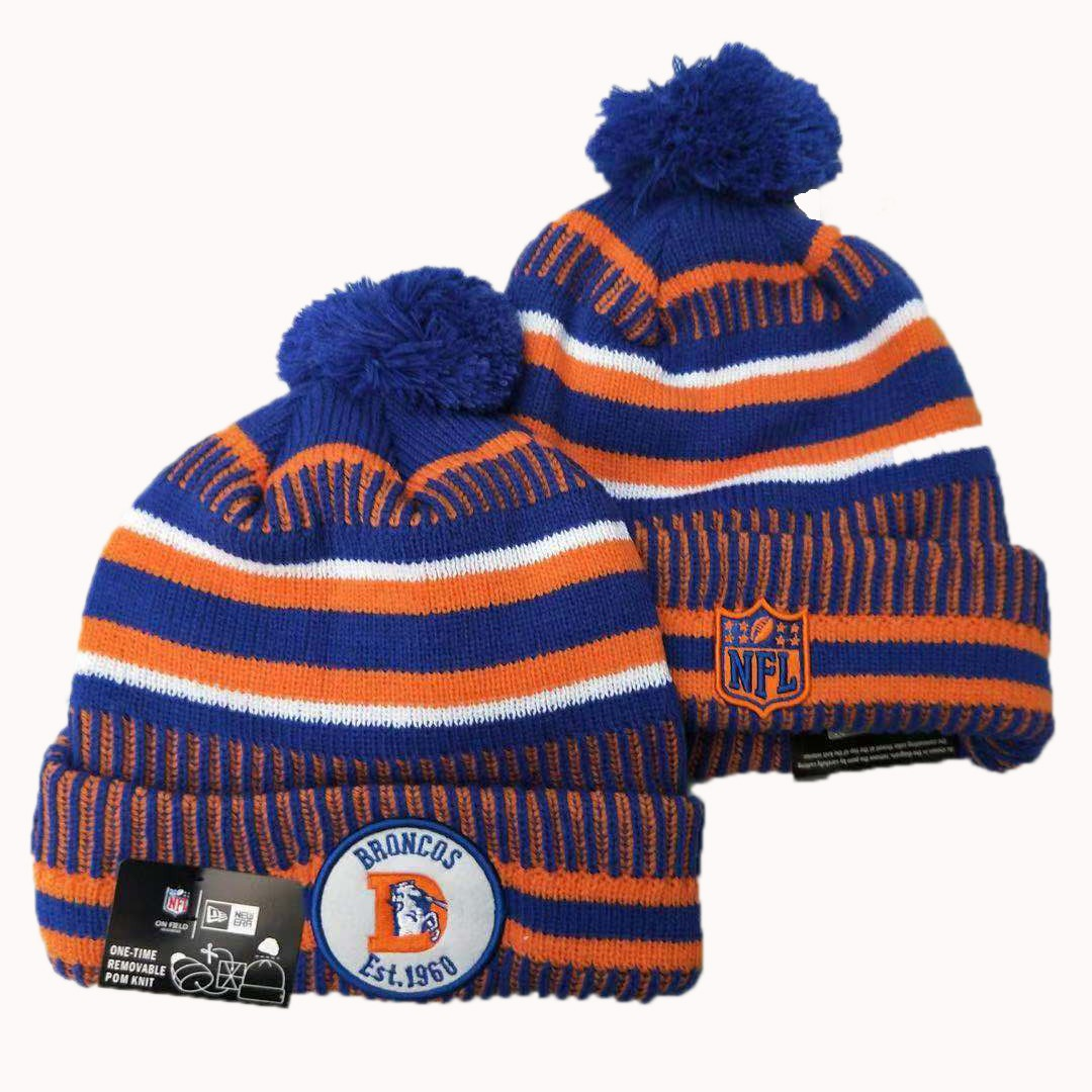 NFL Denver Broncos New Era 2019 Sideline Road Reverse Sport Knit Hats 014