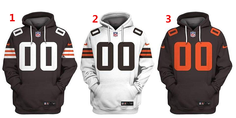 Men's Cleveland Browns Custom Name Number Size Hoodie