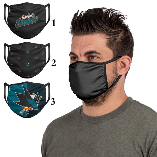 San Jose Sharks Sports Face Mask 001 Filter Pm2.5 (Pls Check Description For Details)