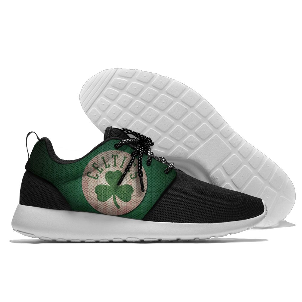 Women's NBA Boston Celtics Roshe Style Lightweight Running Shoes 005