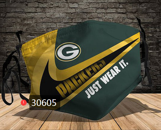 Green Bay Packers Face Mask 30605 Filter Pm2.5 (Pls check description for details)