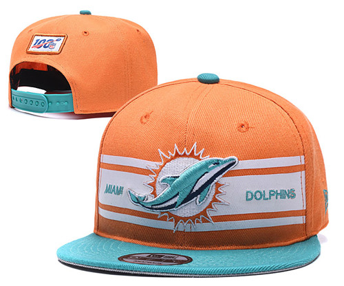 NFL Miami Dolphins 2019 100th Season Stitched Snapback Hats 016