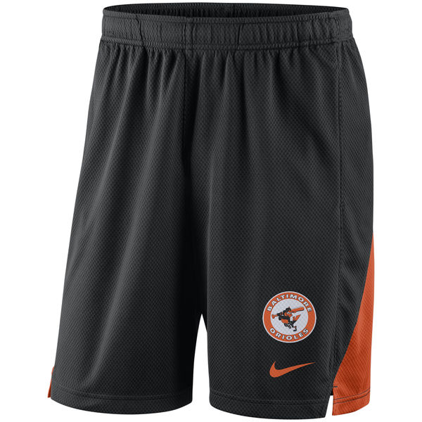 Men's Baltimore Orioles Black Franchise Throwback Performance Shorts