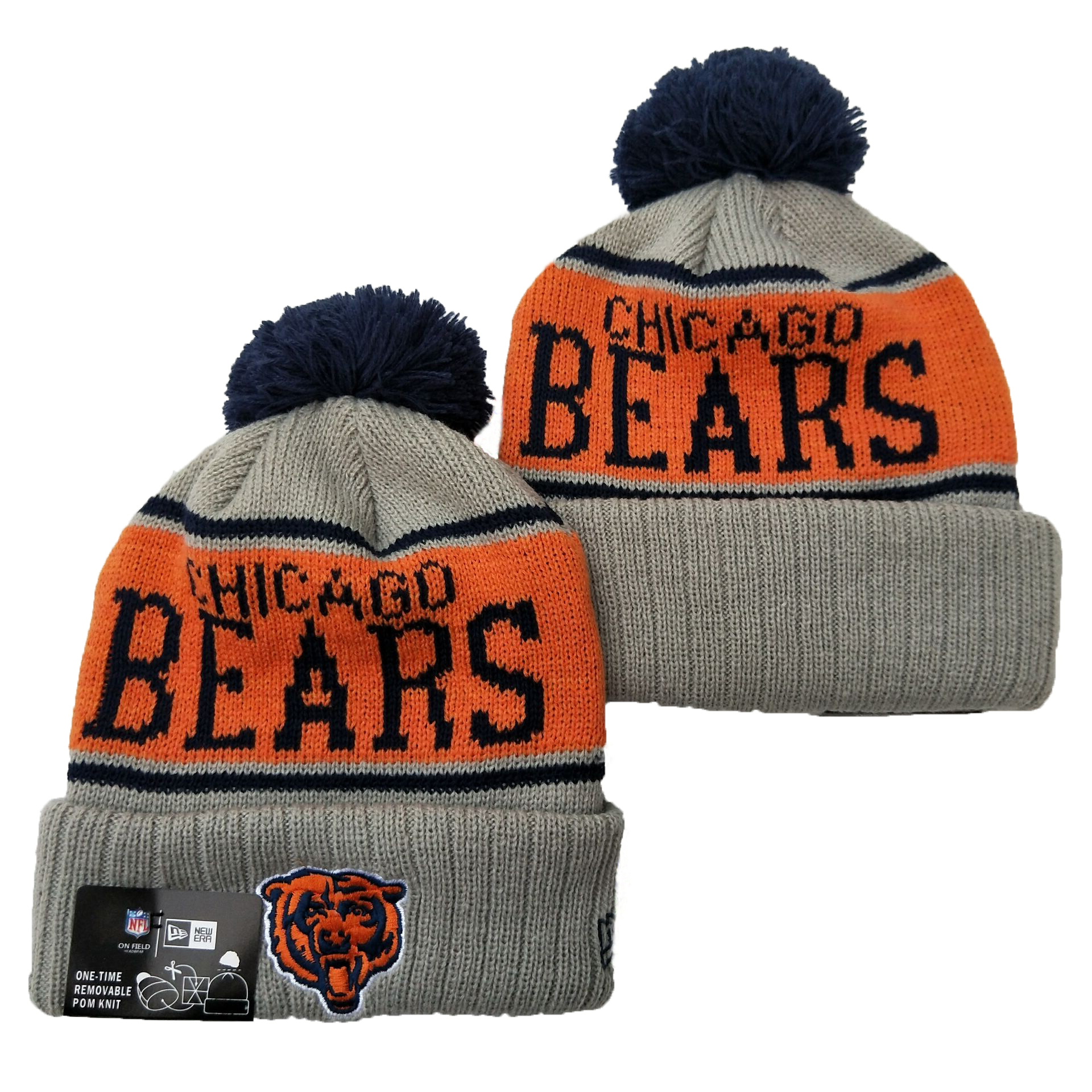 NFL Chicago Bears New Era 2019 Knit Hats 044