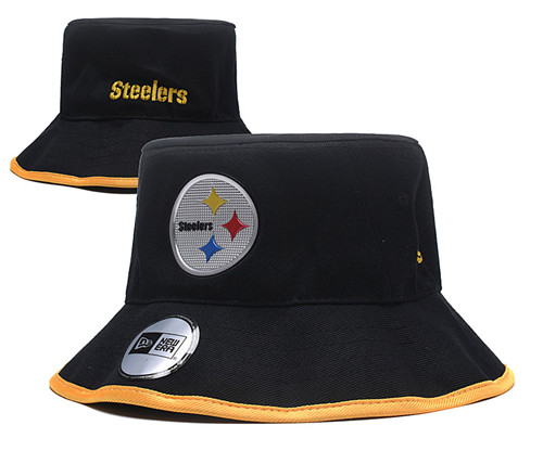NFL Pittsburgh Steelers Stitched Bucket Fisherman Hats 047