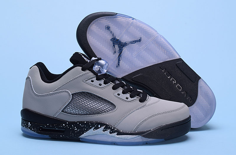 "Men's 2017 Air Jordan 5 Low""Wolf Grey""Shoes"
