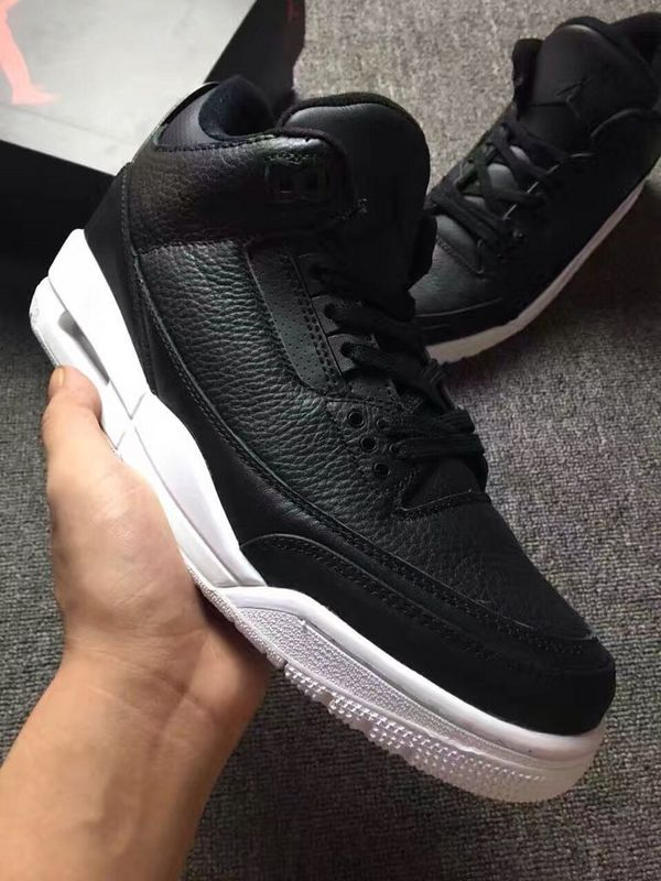"Men's 2017 Air Jordan 3 Retro"" Black and White""Shoes"