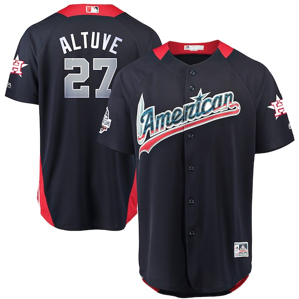 American League #27 Jose Altuve Navy 2018 MLB All-Star Game Home Run Derby Jersey