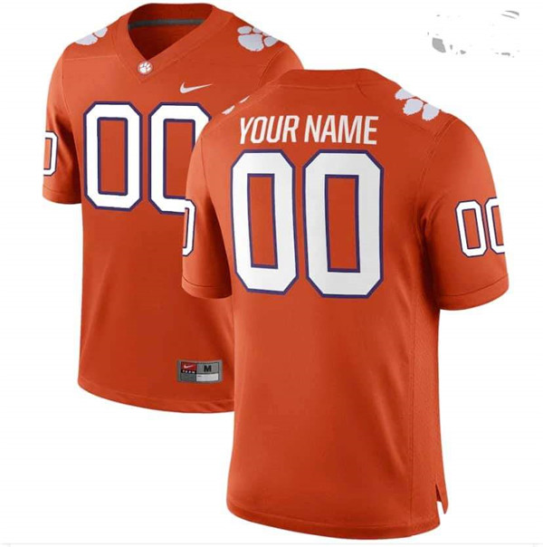 Men's Clemson Tigers Orange Custom Game Jersey