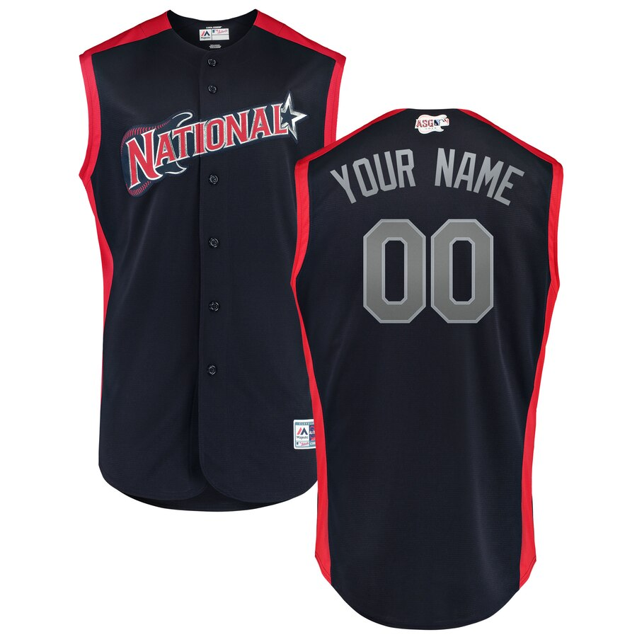 National League Navy 2019 MLB All-Star Game Workout Custom Jersey