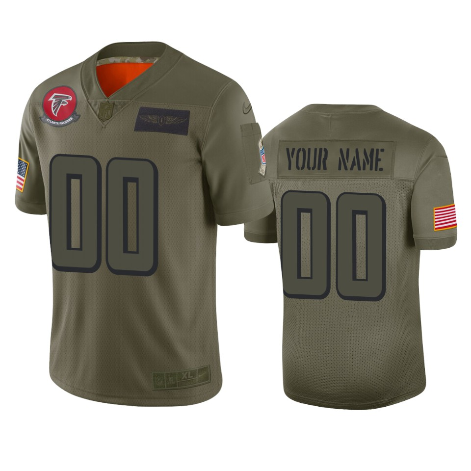 Men's Atlanta Falcons Customized 2019 Camo Salute To Service NFL Stitched Limited Jersey