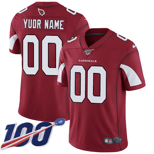 Men's Arizona Cardinals 100th Season ACTIVE PLAYER Red Vapor Untouchable Limited Stitched NFL Jersey.