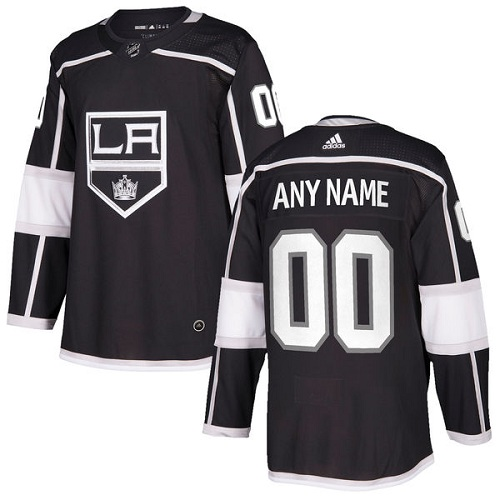 Men's Adidas Los Angeles Kings Personalized Authentic Black Home Stitched NHL Jersey