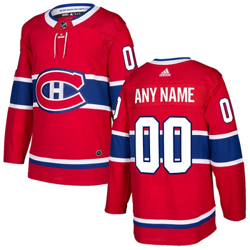 Men's Adidas Montreal Canadiens Personalized Authentic Red Home Stitched NHL Jersey