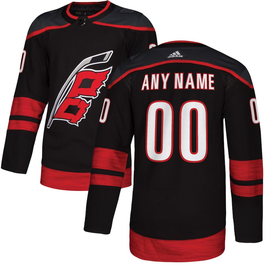 Men's Adidas Carolina Hurricanes Personalized Authentic Black Home Stitched NHL Jersey