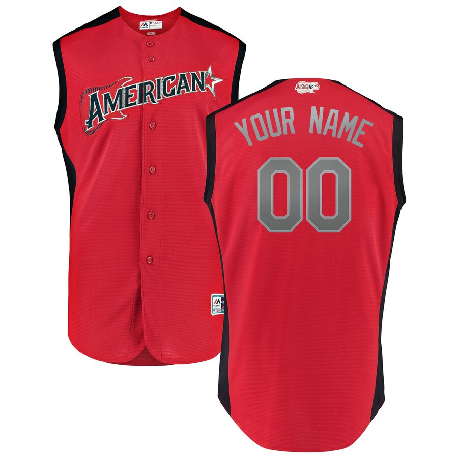 American League Red 2019 MLB All-Star Game Workout Custom Jersey