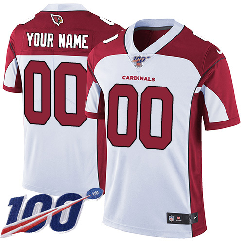 Men's Arizona Cardinals 100th Season ACTIVE PLAYER White Vapor Untouchable Limited Stitched NFL Jersey.