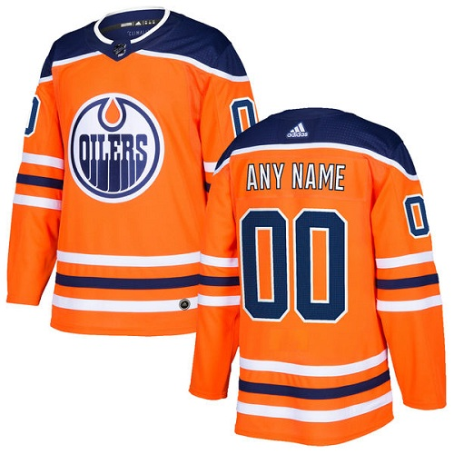 Men's Adidas Edmonton Oilers Personalized Authentic Orange Home Stitched NHL Jersey