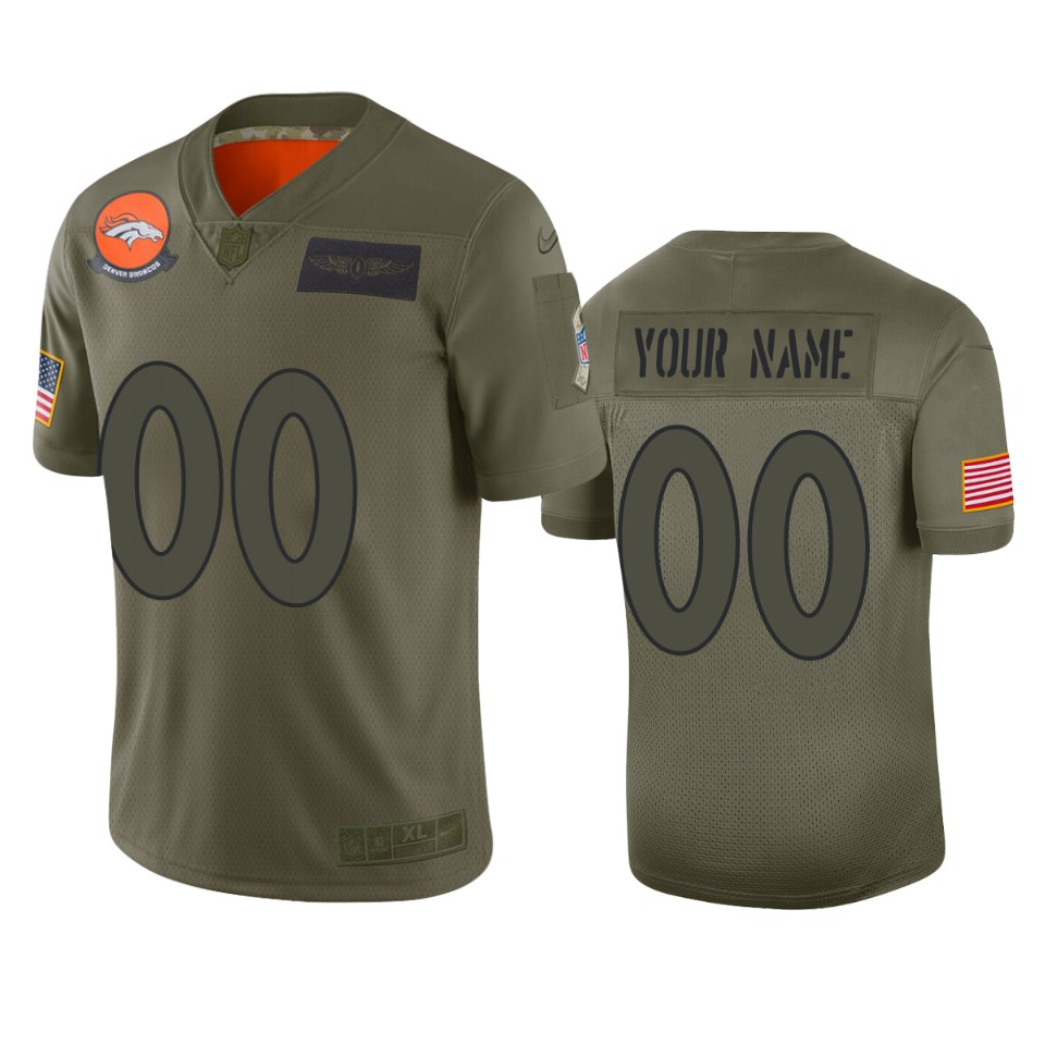 Men's Denver Broncos Customized 2019 Camo Salute To Service NFL Stitched Limited Jersey