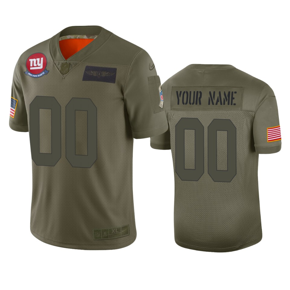 Men's New York Giants Customized 2019 Camo Salute To Service NFL Stitched Limited Jersey