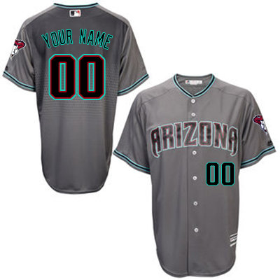 Diamondbacks Personalized Grey MLB Stitched Jersey