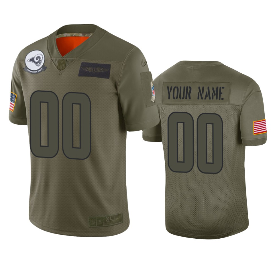 Men's Los Angeles Rams Customized 2019 Camo Salute To Service NFL Stitched Limited Jersey
