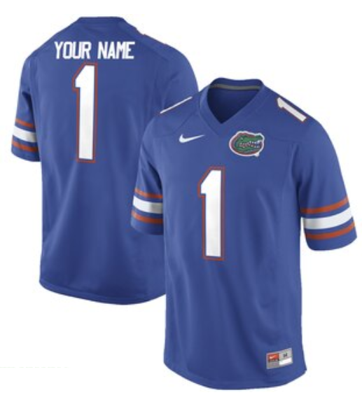 Gators Personalized Authentic Blue NCAA Jersey