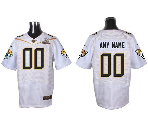 Nike Jacksonville Jaguars Customized White 2016 Pro Bowl Men's Stitched NFL Elite Jersey